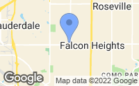 Map of Falcon Heights, MN