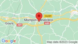 Carte de localisation du centre de contrôle technique MONTPON MENESTROL