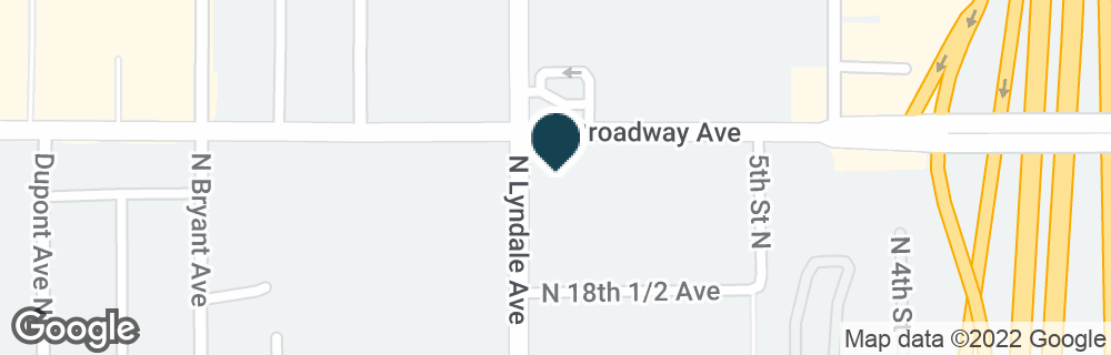 Google Map of627 W BROADWAY