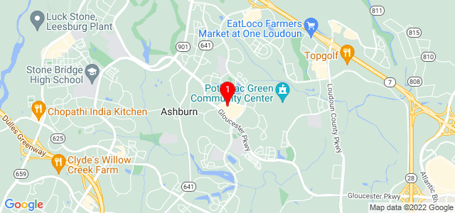 Google Map of 44050-195 Ashburn Village Blvd,  Ashburn, VA 20147