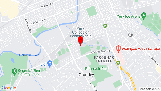 Google Map of 441 Country Club Rd - York College of Pennsylvania, York, PA 17403