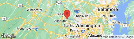 Map of 44121 Harry Byrd Highway Ashburn, VA 20147