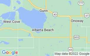 Map of Alberta Beach Golf Resort