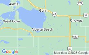 Map of Alberta Beach Golf Resort