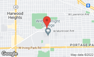 Map of 4442 North Nagle Avenue Harwood Heights, IL 60706