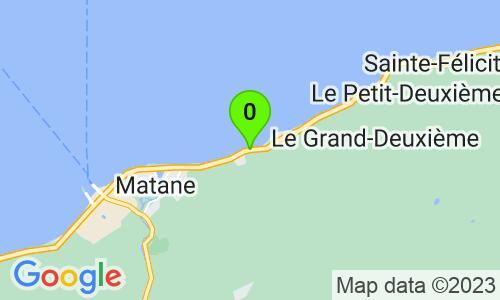 Carte du 445 chemin de la Grève, Matane, G4W 7A1, Québec