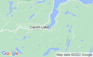 Map of Canim Lake Resort