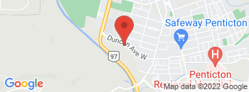 Google Map of 448+Duncan+Ave.W%2CPenticton%2CBritish+Columbia+V2A+7N1