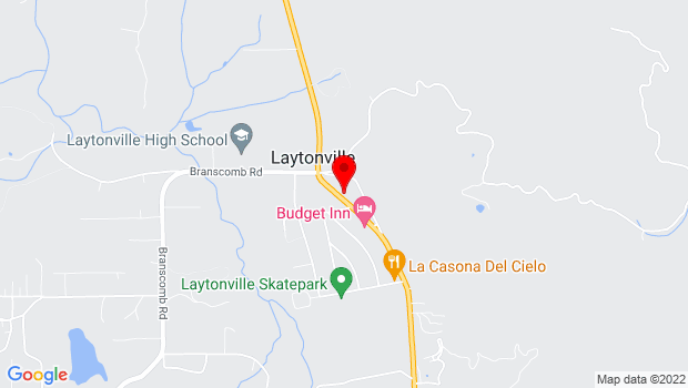 Google Map of 44851 N. Hwy 101, Laytonville, CA 95454
