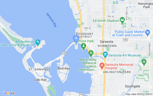 449 Golden Gate Pt #a Sarasota Florida 34236 locatior map