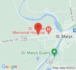 Google Map of 449+Queen+Street+West%2CSt+Marys%2COntario+N4X+1B7
