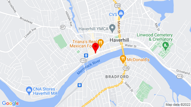 Google Map of 45 Washington St, Haverhill, MA 01832