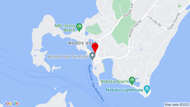 Google Map of 45 Water Street, Woods Hole, MA 02543