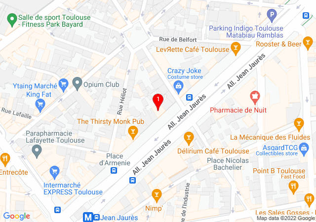 Plan Google Map où se situe l'agence