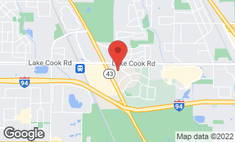Map of 45 Chestnut Road NORTHBROOK, IL 60062