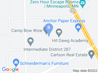 Map of Camp Bow Wow Dog Boarding Minneapolis Dog Boarding options in Minneapolis | Boarding