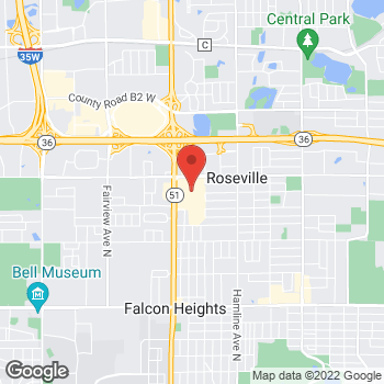 Map of Tuesday Morning at 2100 Snelling Avenue North, Roseville, MN 55113