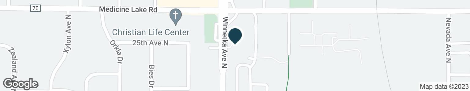 Google Map of2500 WINNETKA AVE N