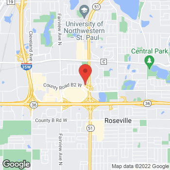 Map of Guitar Center Lessons at 1641 County Road B2 West, Roseville, MN 55113