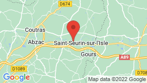 Carte de localisation du centre de contrôle technique Saint Seurin sur l'Isle