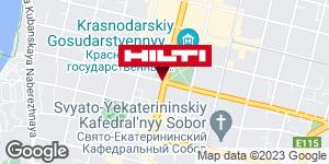 Get directions to Региональный представитель Hilti в г. Краснодар