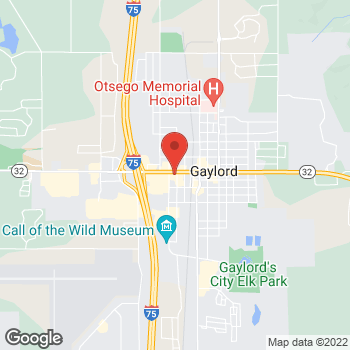Map of Arby's at 609 W Main St, Gaylord, MI 49735-1867