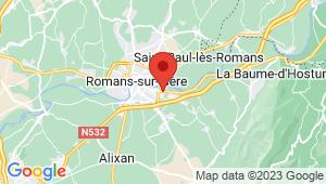 Carte de localisation du centre de contrôle technique CHATUZANGE LE GOUBET