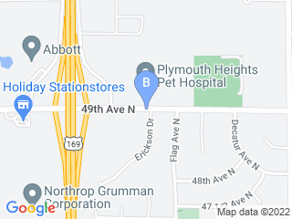 Map of Plymouth Heights Pet Hospital Dog Boarding options in Minneapolis | Boarding