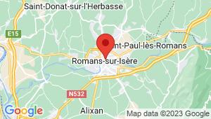 Carte de localisation du centre de contrôle technique ROMANS SUR ISERE