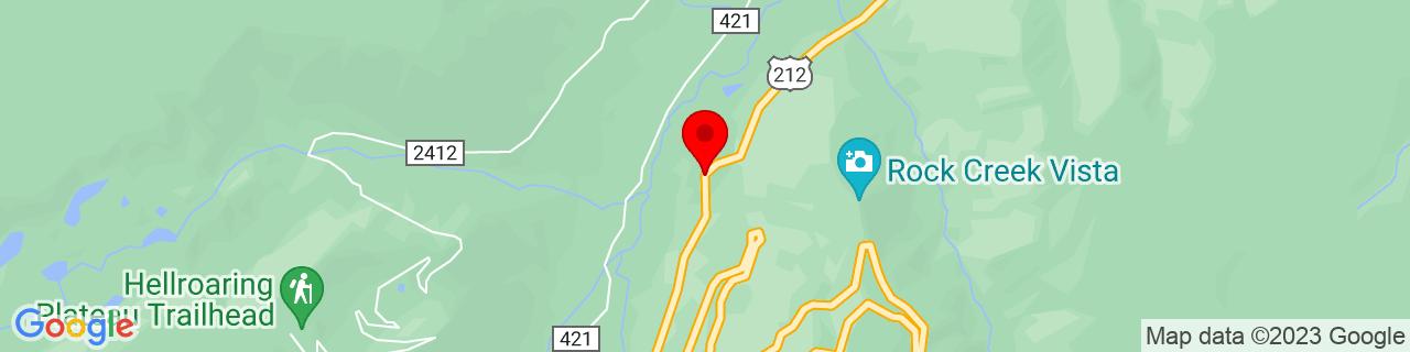 Google Map of 45.0467148, -109.4197041