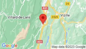 Carte de localisation du centre de contrôle technique Vif
