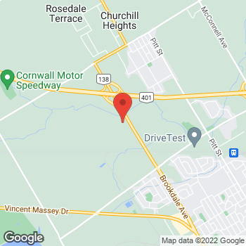 Map of Tim Hortons at 2690 Brookdale Ave, Cornwall, ON K6J 5Y2