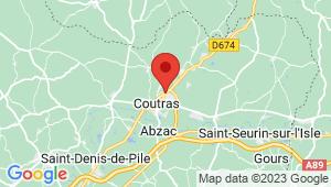 Carte de localisation du centre de contrôle technique COUTRAS