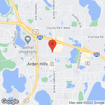 Map of Arby's at 3751 Lexington Ave N., Arden Hills, MN 55126