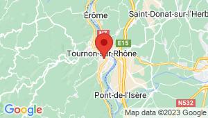 Carte de localisation du centre de contrôle technique TOURNON SUR RHONE