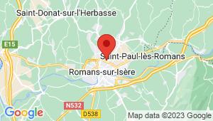 Carte de localisation du centre de contrôle technique Mours Saint Eusebe