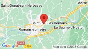 Carte de localisation du centre de contrôle technique SAINT PAUL LES ROMANS
