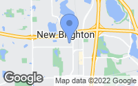 Map of New Brighton, MN