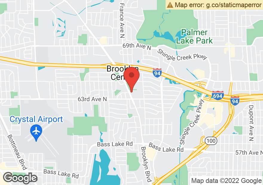 Google Map of 6390 BROOKLYN BLVD