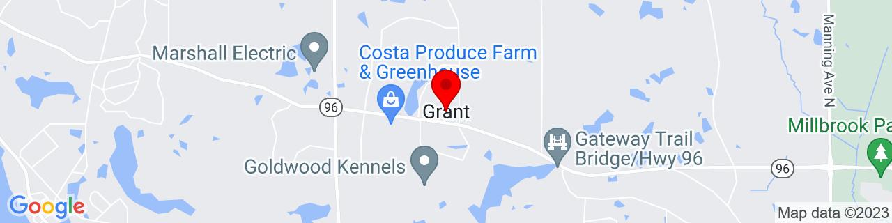 Google Map of 45.08441, -92.91049