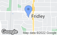 Map of Fridley, MN