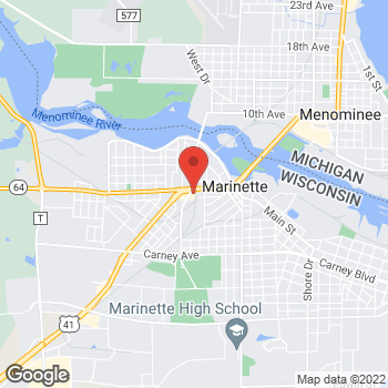Map of Check `n Go at 2205 Hall Ave, Marinette, WI 54143