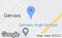 Map of Gervais, OR