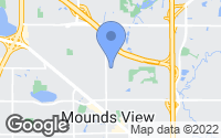 Map of Mounds View, MN