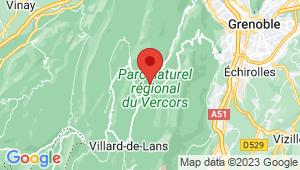 Carte de localisation du centre de contrôle technique LANS EN VERCORS