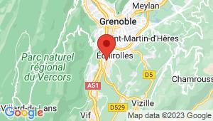 Carte de localisation du centre de contrôle technique LE PONT DE CLAIX