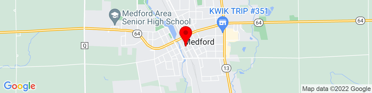 Google Map of 45.1371375, -90.344743