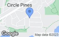 Map of Circle Pines, MN