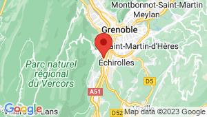 Carte de localisation du centre de contrôle technique Echirolles Drac