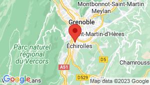 Carte de localisation du centre de contrôle technique ECHIROLLES